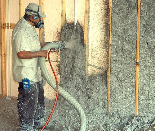 green fiber cellulose insulation by Attic solutions
