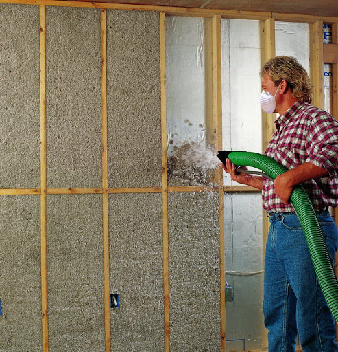 green fiber cellulose on existing insulation