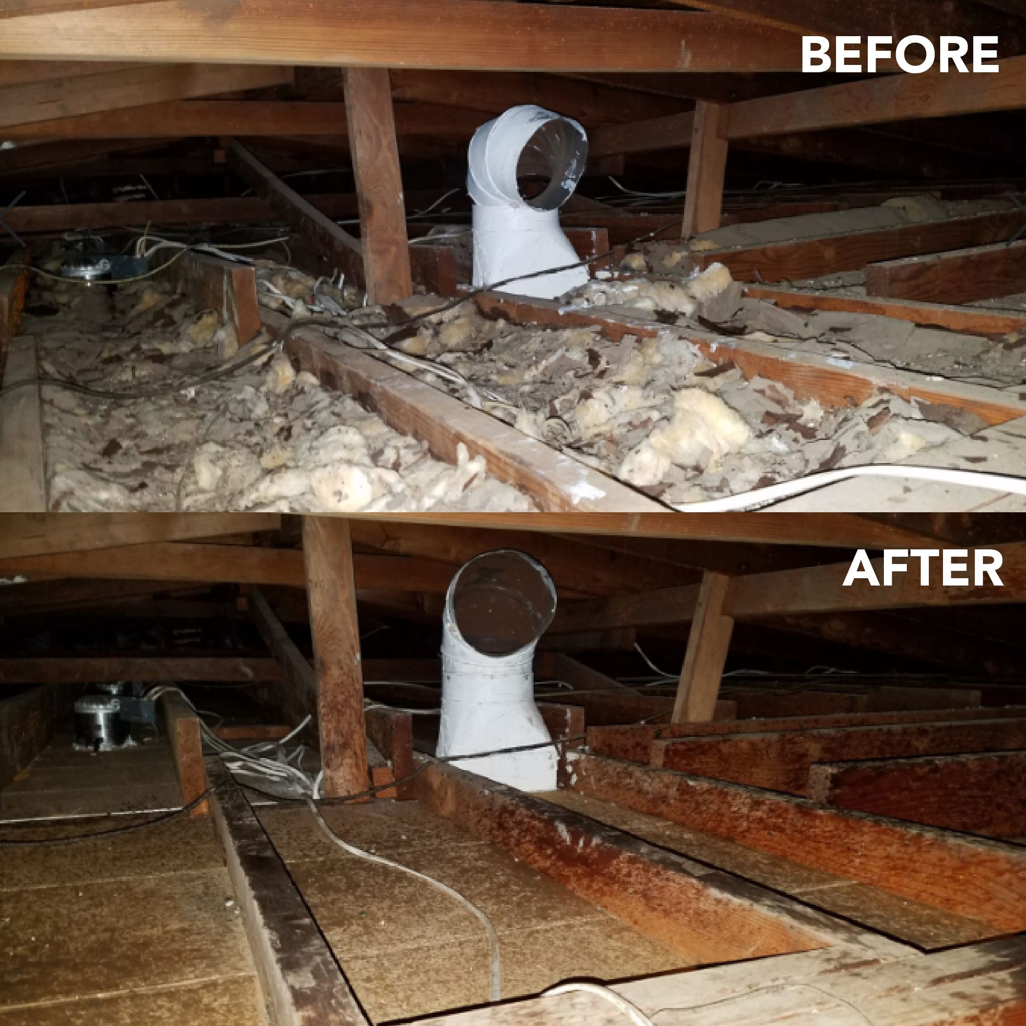 insulation removal and disposal by Attic solutions
